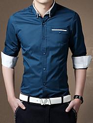 MUDU Men's Casual Fashion Bag Long Sleeve Regular T-Shirts (Cotton Blends)