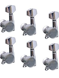 6L Chrome Inline Locked String Guitar Tuning Pegs Keys Tuners Machine Heads for Strat Style Electric Guitar