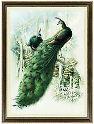 la famosa pintura de un punto de cruz pavo real