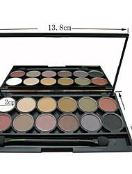 12 Palette de Fard à Paupières Lueur / Matériel Fard à paupières palette Poudre Normal Maquillage Quotidien / Maquillage Smoky-Eye