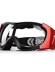 óculos de proteção de poeira à prova de vento preto e vermelho de alta qualidade