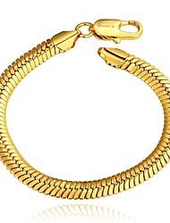 Fashion Original Women's Snake Gold Plated Brass Chain & Link Bracelet(Golden)(1Pc)
