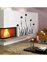 decalques de parede adesivos de parede, estilo flores pretas parede pvc adesivos