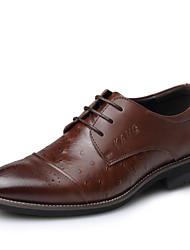 Men's Shoes Casual Calf Hair Oxfords Black/Brown