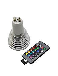1 pezzi gu10 3w 2800-3500 / 6000-6500k rgb / color-changing faretti a distanza telecomandati ac 220-240v