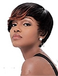 Freeshipping Stylish Short Straight Mix-clolor(Black&Brown) Synthetic Hair Wigs Party Wig