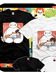 Big Hero 6 Bay Max Black&White Cotton Cosplay T-Shirt