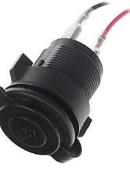 12v impermeabile moto presa di potere del caricatore accendisigari (nero)