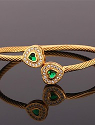 U7® Cuff Bracelet 18K Real Gold Platinum Plated Love Bracelet with AAA+ Cubic Zirconia Fashion Jewelry