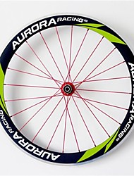AURORA RACING 700c Road 50-25mm Carbon Clincher Road Bicycle Wheels with Alloy Brake