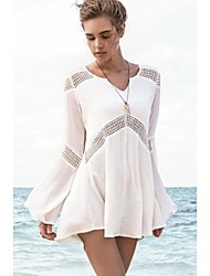 Women's Bell Sleeves Hollow-out Beach Tunic