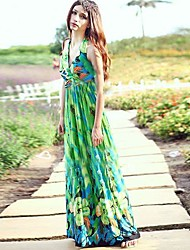 Women's Halter Backless Bohemian Long Dress(More Colors)