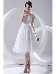 Formal Evening Dress - As Picture Petite / Plus Sizes A-line Bateau Knee-length Chiffon