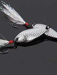 4 pcs Poissons nageur/Leurre dur / Leurre forme de cuillère / leurres de pêche Poissons nageur/Leurre dur / Cuillères Or / Argent 3.5 g/