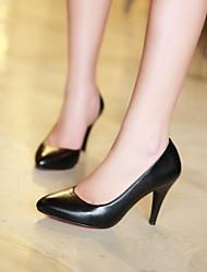 Chaussures Femme - Habillé - Noir / Rose - Talon Aiguille - Talons / Bout Pointu / Bout Fermé - Talons - Similicuir