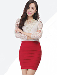 Women's All Match Fashion Pure Color OL Bodycon Skirts