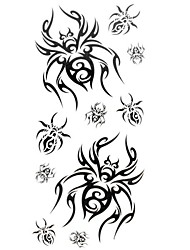 1pc Fashion Waterproof Temporary Tattoos Finger/Wrist/Neck Tattoos Small Spider Body Tattoos(18.5cm*8.5cm)