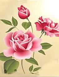riquezas ambientais e flor de quarto / etiqueta da parede da sala de visitas