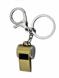 Zinc Alloy Whistle Key Ring Toys