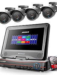 ANNKE® 8CH AHD DVR/HVR/NVR 4 800TVL Analogy 100ft IR CUT Night Vision Security Camera System(1TB HDD)