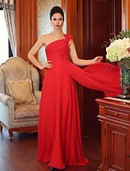 Formal Evening Dress - Ruby Plus Sizes Sheath/Column One Shoulder Floor-length Chiffon