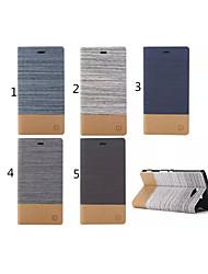 Pour Coque Sony / Xperia Z3 Porte Carte / Avec Support / Clapet Coque Coque Intégrale Coque Couleur Pleine Dur Cuir PU pour SonySony