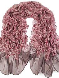 femmes pourpres écharpes en voile gris fil bali écharpe châles