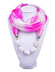 D Exceed   Women Elegant Infinity Ring Fashion Scarf with Dark  Sapphire Irregular Brush Painting Beads Pendant Scarfs
