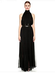 TS Turtleneck Dress , Chiffon Maxi Sleeveless