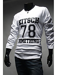 MEN - T-shirt - Informale Rotondo - Maniche lunghe Misto cotone