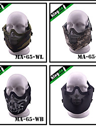MA-65-02 New Tactical Gear V8 Strike Steel Mesh Protect Face Mask Safety