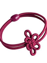 banda para el cabello flor del tocado del nudo chino