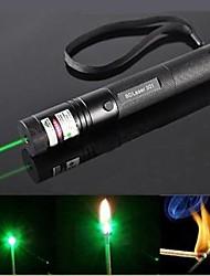 ls319 enfoque G301 quemar láser lápiz puntero láser verde de haz visible (5mW, 532nm, negro)