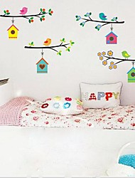Environmental Removable Little Bird And Branch Wall Sticker