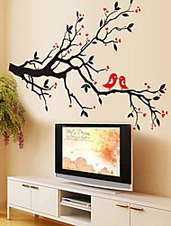 Environmental Removable Love Bird PVC Bedroom/Livingroom Wall Sticker