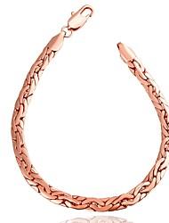 Bracelet Chaînes & Bracelets Cuivre / Plaqué Or Rose Mariage / Soirée / Quotidien / Décontracté Bijoux Cadeau Or Rose,1pc