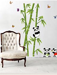 adesivi murali piano camera da letto panda bambù