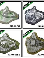 MA-09-G V1 Strike Steel Safety Mesh Airsoft Half Face Mask(Two Belt Version)