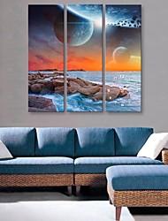 Orologio da parete - DI Tela - Moderno/Contemporaneo - Rettangolare