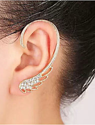 Feminino Punhos da orelha Pedras dos signos bijuterias Strass Liga Asas / Penas Jóias Para Casamento Festa Diário Casual