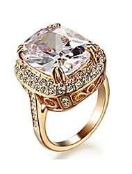 Women's Statement Rings Crystal Luxury Costume Jewelry Crystal Gold Plated Imitation Diamond Jewelry For Wedding Party Daily Casual
