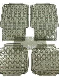 Car Buddy® 5pcs Full Set Ridged PVC Floor Mats, Universal Fit Mat for Car, SUV, Van & Trucks