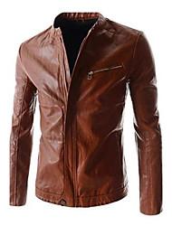 Men's Fashion Leisure Leather Coat
