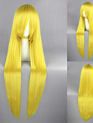 40Inch Lemon Yellow Sailor Moon Synthetic Anime Cosplay Wig