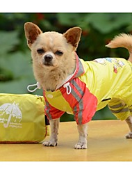 Hot New Design Children  Cartoon Raincoat Inside (Double)  For Dogs Pets(Assorted Colors, Sizes)