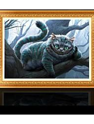 России Cat Стиль 5d DIY алмаз вышивки крестом комплект картина печати для украшения дома (56 * 36см)