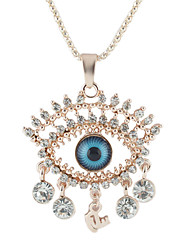 New Trends Costume Jewelry Rhinestone Eyes Pendant Necklace