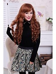 Beautiful Fashion Natural  Long  Blond Loose Wavy Synthetic Hair High Quality  Full Bang Wigs