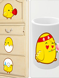Wall Stickers Wall Decals, Style Super CCute Chicks PVC Wall Stickers