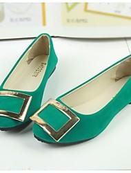Зеленый / Розовый / Фиолетовый - Женская обувь - На каждый день - Ткань - На плоской подошве - С острым носком - Обувь на плоской подошве